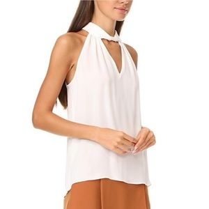 NWT Ramy Brook white halter shirt size L